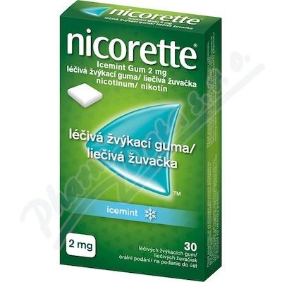 Nicorette Icemint Gum 2mg léčivá žvýkací guma 30