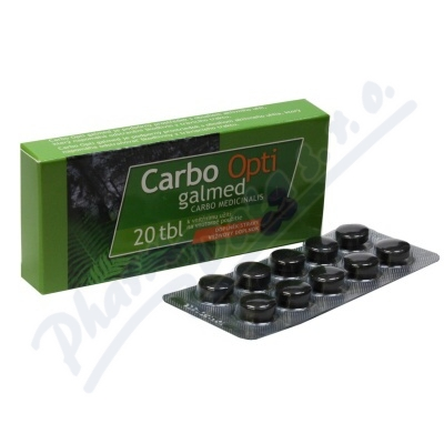Carbo medicinalis Opti tbl.20x300mg Galmed