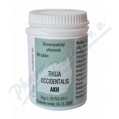 Thuja occidentalis AKH por.tbl.nob.60
