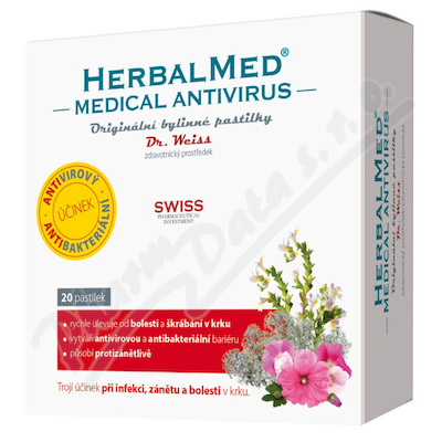 HerbalMed Medical Antivirus Dr.Weiss 20 pastilek