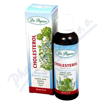 Dr.Popov Kapky bylinné Cholesterol 50ml