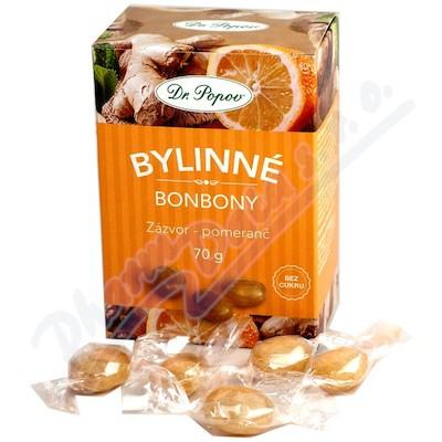 Dr.Popov Bonbony Zázvor-pomeranč 70g