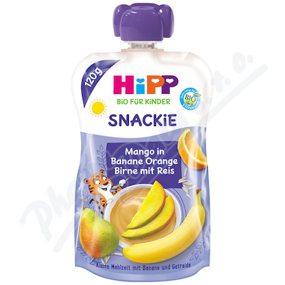 HiPP BIO Snackie Banán-Pome.-Hruš.-Mango-Rýže 120g