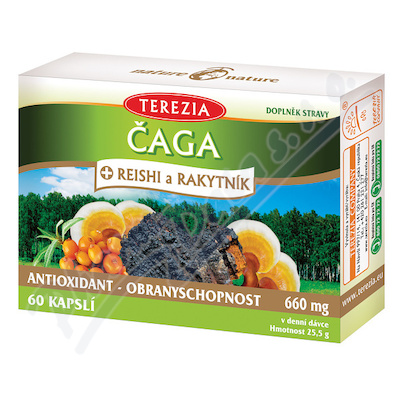 TEREZIA Čaga+Reishi a Rakytník cps.60