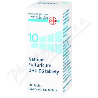 Natrium sulfuricum DHU D5-D30 tbl.nob.200