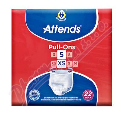 Kalhotky absorpční Attends Pull-Ons 5 XS 22ks