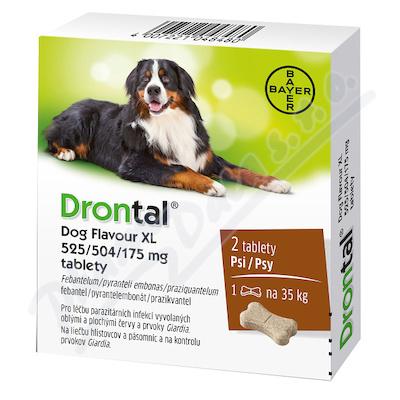 Drontal Dog Flavour XL 525/504/175mg tbl.2