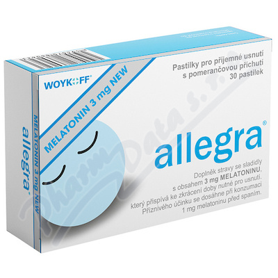 MELATONIN allegra 3mg NEW 30 pastilek
