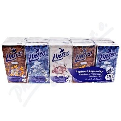 Papírové kapesníky LINTEO 3-vrstvé 15x10ks