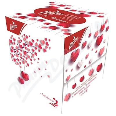 Papírové kapesníky LINTEO box 3vrst.60ks LOVE