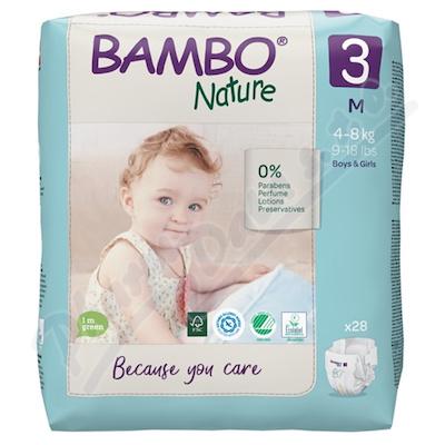 Bambo Nature 3 dětské plenkové kalhotky 4-8kg 28ks