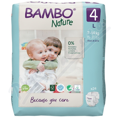 Bambo Nature 4 dětské plenk. kalhotky 7-14kg 24ks