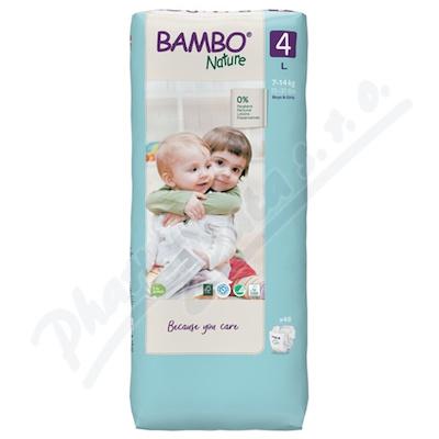 Bambo Nature 4 děts.plenkové kalhotky 7-14kg 48ks