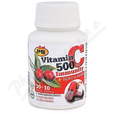 JML Vitamin C 500mg + šípky a zinek cps.30+10