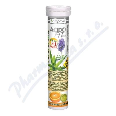 AcidoFit MD pomaranč/limetka tbl.eff.15+1 zdarma