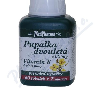 MedPharma Pupalka dvouletá 500mg+vit.E tob.67