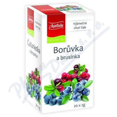 Apotheke Borůvka a brusinka čaj 20x2g