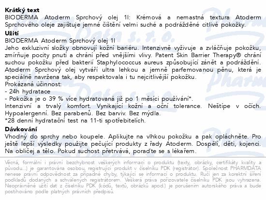 BIODERMA Atoderm sprchový olej 1 l